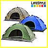 Палатка автомат 4-х местная, туристическая для отдыха и походов Smart Camp (Камуфляж)