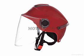 Шлем открытый  DAVID  (#307, с регулятором размера L-XXL, mute red)