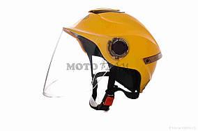 Шлем открытый  DAVID  (#307, с регулятором размера L-XXL, yellow)