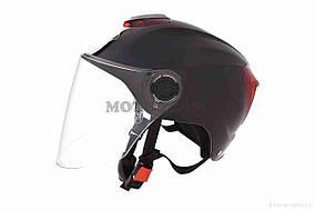 Шлем открытый  DAVID  (#308, с регулятором размера L-XXL, black)