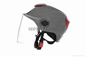 Шлем открытый  DAVID  (#308, с регулятором размера L-XXL, dark grey)