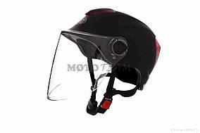 Шлем открытый  DAVID  (#308, с регулятором размера L-XXL, mute black)