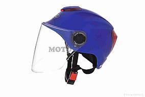 Шлем открытый  DAVID  (#308, с регулятором размера L-XXL, mute blue)