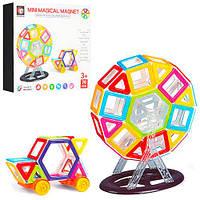 Магнитный конструктор для детей Mini Magical Magnet. 76 деталей. Надежные соединения. Яркие детали. арт. 719