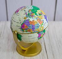Маленький декоративний глобус що обертається, політичний, Землі, глобус світу з широтами і меридіанами (GIPS)