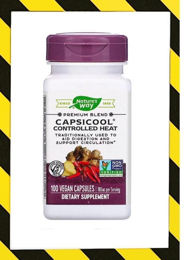 Nature's Way, Кайенский перец CapsiCool, 390 мг 100 веган капсул