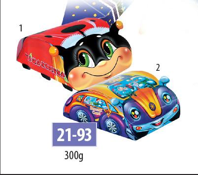 Новогодняя подарочная коробочка для конфет и сладостей 300гр №21-93 350шт/ящ КД.