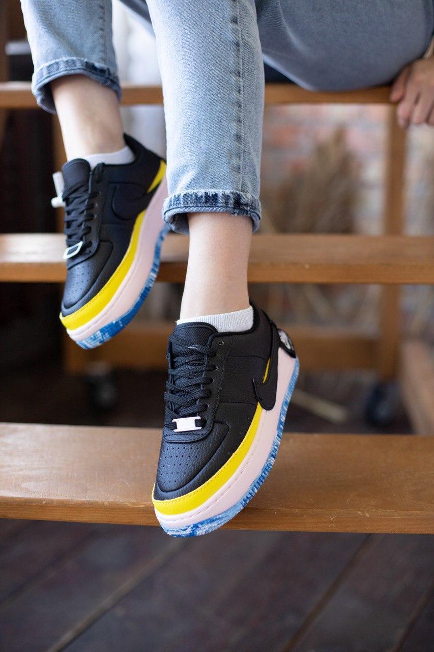 """Кросівки жіночі Nike Air Force Jester """"Black / Blu / Pink / Yellow"""""""