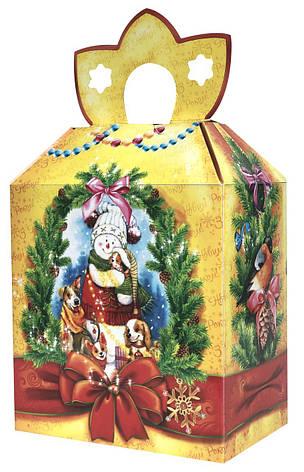 Новогодняя подарочная коробочка для конфет и сладостей 400-600гр №40 100шт/уп, фото 2
