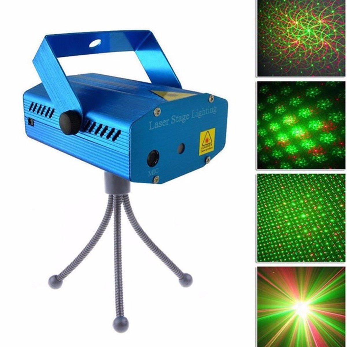 Лазер праздничный 4 режима и рисунка