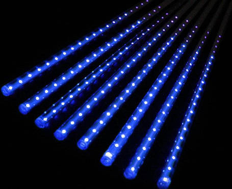 Гирлянда сосульки синий 8 шт, 50 см, от сети, фото 2