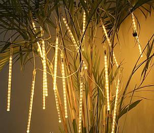 Гирлянда сосульки золотый 8 шт, 50 см, от сети, фото 2
