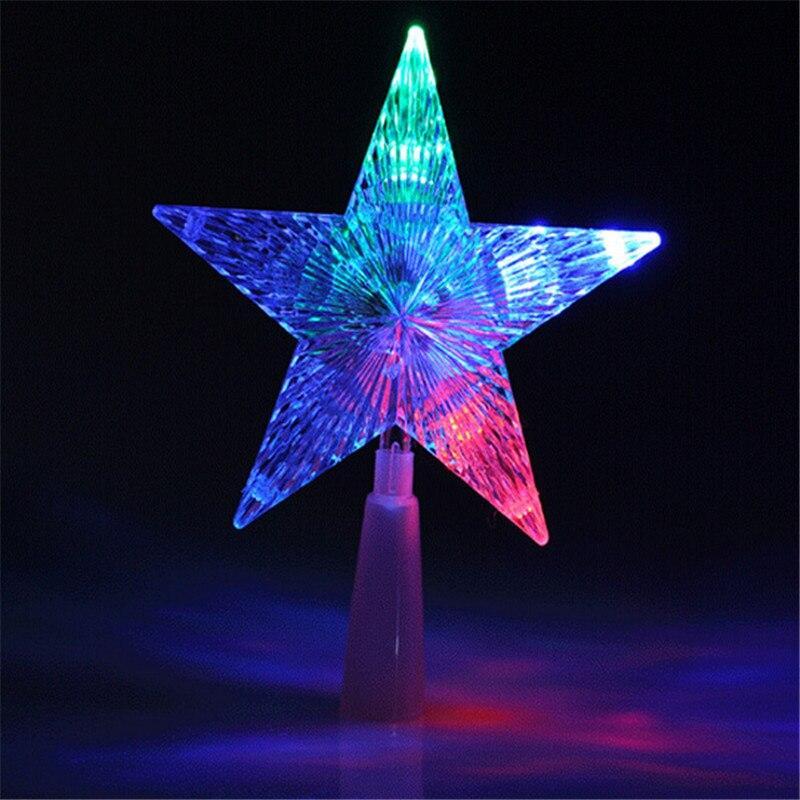 Верхушка-наконечник на елку звезда светодиодная (22см), от сети