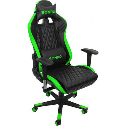 Крісло геймерське Bonro 1018 зелене, фото 2