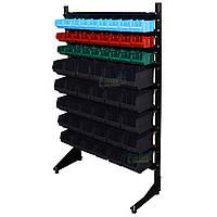 Модульный стеллаж 1500 мм 57 ящика, односторонний стеллаж с лотками, складской органайзер В/С