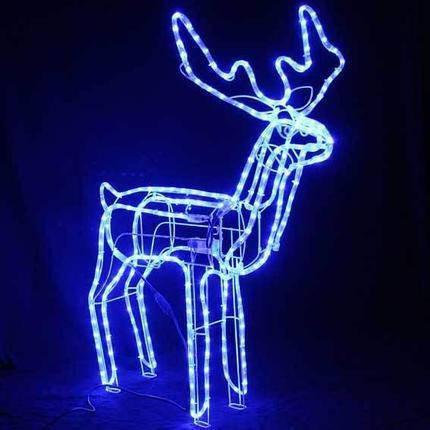 Олень светящийся 95 см синий с поворотом головы, фото 2