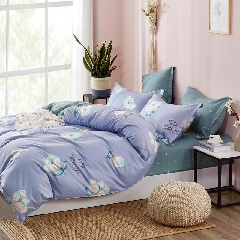 Комплект постільної білизни Bella Villa сатин Євро фіолетовий