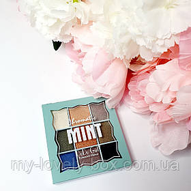"""Палетка теней на 9 оттенков от DoDo """"Mint"""""""
