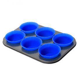 Форма для выпечки кексов с силиконовыми формочками 6шт/л 27*18.5*2.5см, фото 2