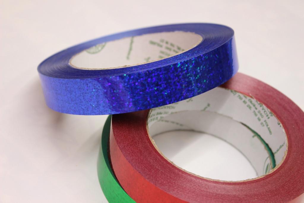 Лента для цветов и подарков Tonica 2/50 - Синяя голограмма