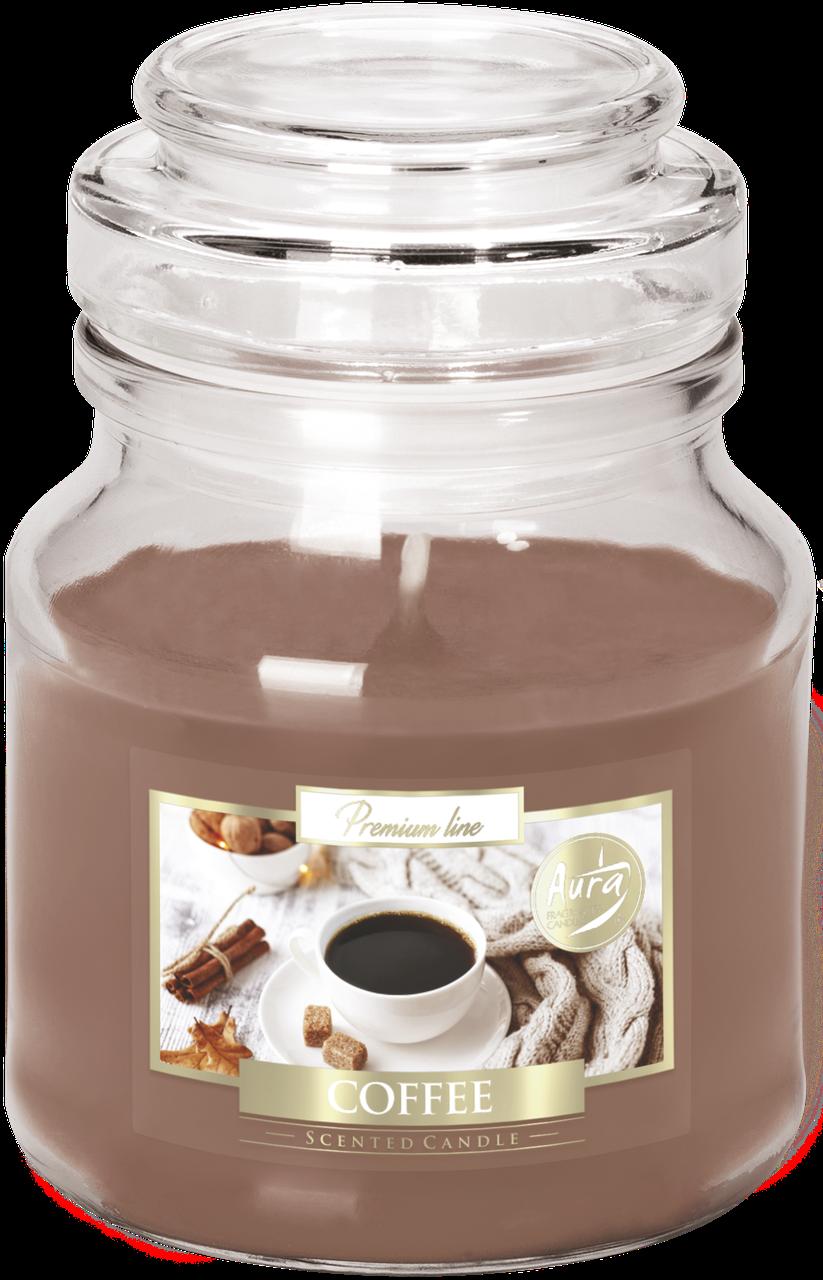 Ароматическая свеча BISPOL в стеклянном стакане с крышкой №SND71-89 - Кофе