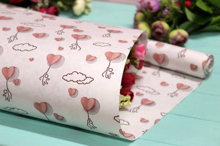 Двухсторонняя крафт бумага для цветов и подарков 70см*10м №1006БЛ 2-СТ, фото 2
