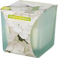 Ароматическая свеча в стекле BISPOL №SNK80m-179 - Белые цветы