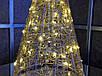 Елка металлическая с гирляндой, железная, лофт, loft, питание от батареек, 100 LED, 45 см., настольная., фото 3