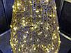 Елка металлическая с гирляндой, железная, лофт, loft, питание от батареек, 100 LED, 45 см., настольная., фото 4