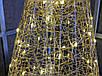 Елка металлическая с гирляндой, железная, лофт, loft, питание от батареек, 100 LED, 45 см., настольная., фото 5