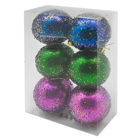 Елочные шарики 6см 6шт/наб