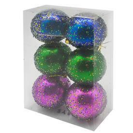 Елочные шарики 6см 6шт/наб, фото 2