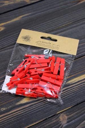 Декоративные прищепки Paula 8S35Z24 3,5см - Красные