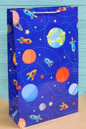 Бумажный подарочный пакет 40*24*9см 12шт/уп №ПАК БВ-305