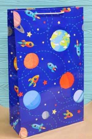 Бумажный подарочный пакет 40*24*9см 12шт/уп №ПАК БВ-305, фото 2
