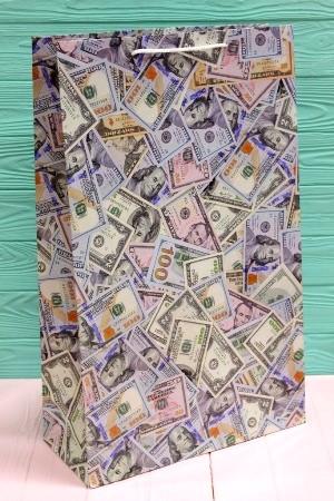 Бумажный подарочный пакет 40*24*9см 12шт/уп №ПАК БВ-201