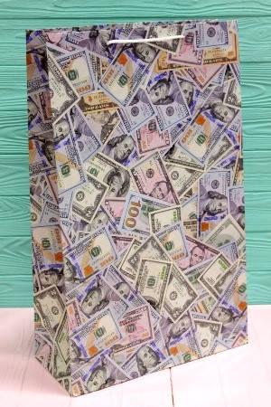Бумажный подарочный пакет 40*24*9см 12шт/уп №ПАК БВ-201, фото 2
