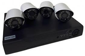 Система видеонаблюдения на 4 камеры UKC DVR KIT 520 AHD 4ch Gibrid 6932