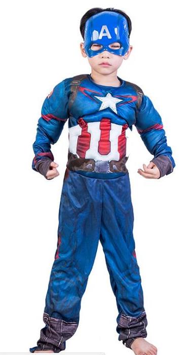 Праздничный карнавальный костюм Капитан Америка для мальчика - Captain America, Superhero, Carnival, Disney