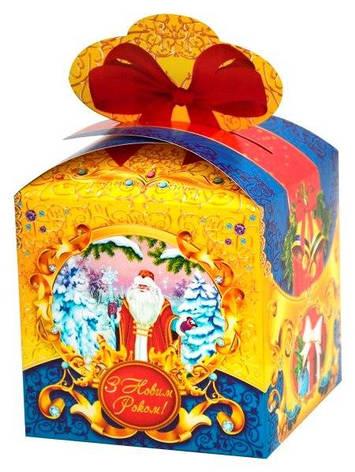Новогодняя подарочная коробочка для конфет и сладостей 400-600гр №33 100шт/уп, фото 2