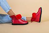 Женские красные кожаные угги, фото 9