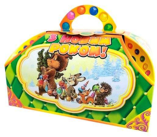 Новогодняя подарочная коробочка для конфет и сладостей 400-500гр №22 100шт/уп, фото 2