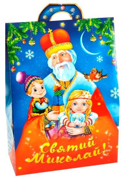 Новогодняя подарочная коробочка для конфет и сладостей 400-500гр №26 100шт/уп