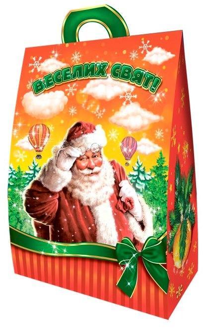 Новогодняя подарочная коробочка для конфет и сладостей 400-500гр №29 100шт/уп