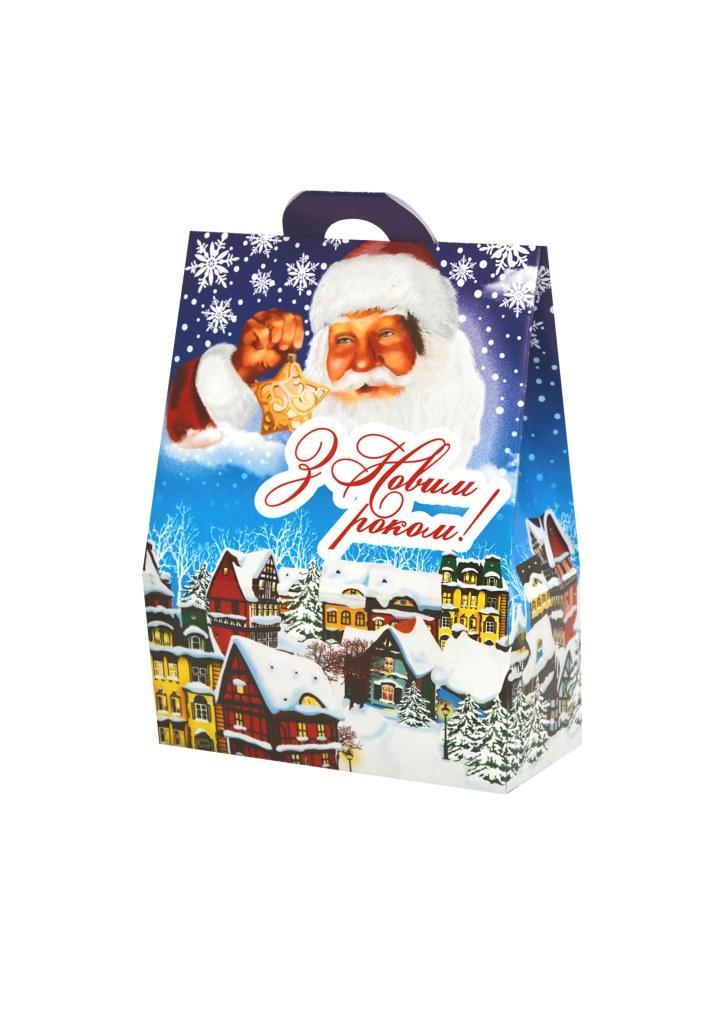 Новогодняя подарочная коробочка для конфет и сладостей 400-500гр №31 100шт/уп