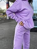 Женский прогулочный костюм на флисе морская волна, лиловый, горчица, серый, мокко, беж 42-44, 46-48, 50-52, фото 2