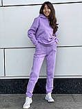 Женский прогулочный костюм на флисе морская волна, лиловый, горчица, серый, мокко, беж 42-44, 46-48, 50-52, фото 8