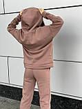 Женский прогулочный костюм на флисе морская волна, лиловый, горчица, серый, мокко, беж 42-44, 46-48, 50-52, фото 7