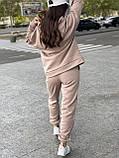 Женский прогулочный костюм на флисе морская волна, лиловый, горчица, серый, мокко, беж 42-44, 46-48, 50-52, фото 4