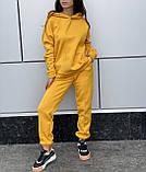Женский прогулочный костюм на флисе морская волна, лиловый, горчица, серый, мокко, беж 42-44, 46-48, 50-52, фото 6